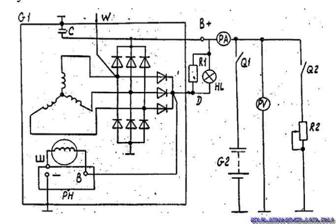 Opel combo генератор схема